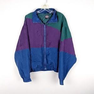 Vintage | Color Block Silk Nylon Jacket-W12